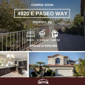 Coming Soon | 4920 Paseo Way | Phoenix, AZ