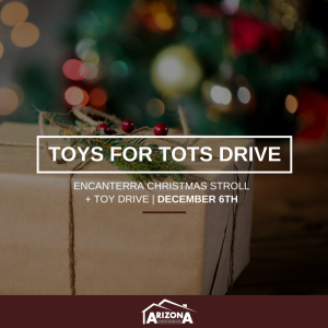 Encanterra Christmas Stroll + Toys for Tots Drive