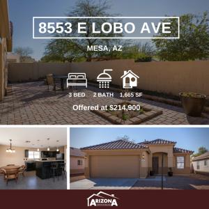 AZEXP Featured Listing | 8553 E Lobo Ave, Mesa